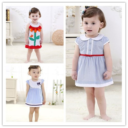 Baby Girl Dress Summer 2016 New Brand Girls Dress Kid Clothes Vestidos Children Dress Princess Party Dresses for Girls 2-3 years azel elegant latest new child dress for 2 3 year old girls vestidos fashion summer kid clothing little girls daily clothes 2017