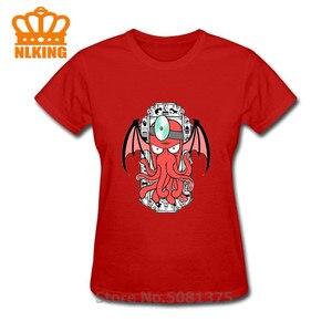 Футболка Zoidthulhu Cthulhu, Lovecrafts, огромный осьминог, Хлопковые женские Топы И Футболки для отдыха, Harajuku Camisetas