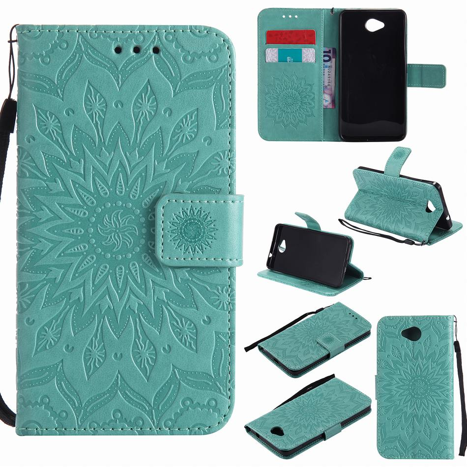 <font><b>Fundas</b></font> Leather Covers For <font><b>Nokia</b></font> Lumia N 950 650 640 635 550 3310 3 5 6 <font><b>8</b></font> 2017 9 2018 Card Slot Frame Sunflower Embossing P06Z image