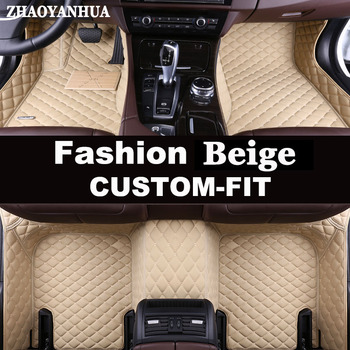 ZHAOYANHUA Custom car floor mats Case for Toyota Camry Corolla RAV4 Prius Prado Highlander Sienna verso leather carpet liners image