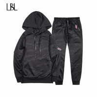 Two Piece Set Tracksuit Men Brand Clothing Sudadera Hombre 2018 Fashion Spring Autumn Men Sporting Suit