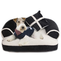 Soft pet dog cat Sofa Bed House For Small Medium Dog Pet Washable fleece winter warm dog puppy bed nest kennels dog cushion mat