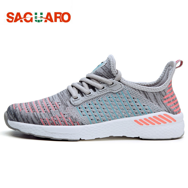 SAGUARO Unisex Light Sneakers Summer Breathable Mesh Female Jogging Running Shoes Trainers Men Women Lovers Sport Walking Shoes