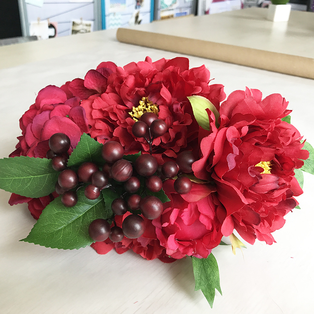 Zonaflor zonaflor artificial flowers silk flower bouquet 7 big heads zonaflor zonaflor artificial flowers silk flower bouquet 7 big heads peony fake leaf wedding stamens flowers home party decorati in artificial dried izmirmasajfo