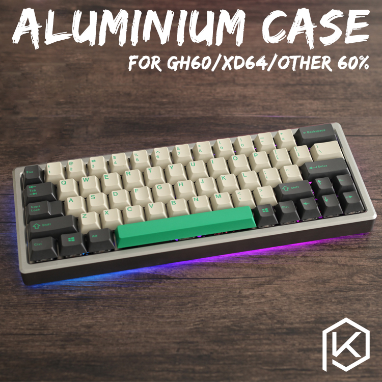 Anodized Aluminium case for xd60 xd64 60% custom keyboard acrylic panels acrylic diffuser gh60 xd64 xd60 60% rotatable supporter-in Keyboards from Computer & Office