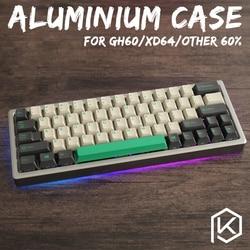 Eloxiertem Aluminium fall für xd60 xd64 60% benutzerdefinierte tastatur acryl panels acryl diffusor gh60 xd64 xd60 60% drehbare supporter
