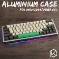 Geanodiseerd Aluminium case voor xd60 xd64 60% custom toetsenbord acryl panelen acryl diffuser gh60 xd64 xd60 60% draaibare supporter