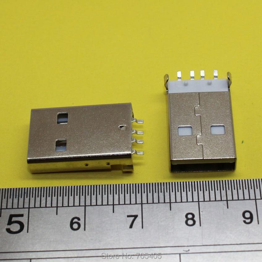 A type AM Male usb jack 2.0 Plug Laptop Notebook DIY cable plug 10pcs lot usb 2 0 4pin a type male plug