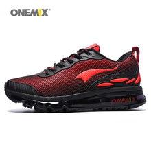 ONEMIX Max – chaussures de course à coussin d'air pour hommes et femmes, baskets de course, d'athlétisme, de marche et d'extérieur, de sport, très tendance, rouge