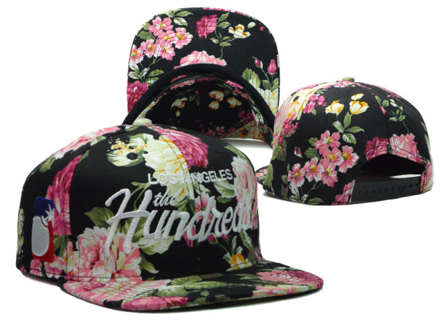 Adult Hip Hop Snapback Hat   New Arrival Flower pattern Hundred letter  Graphics Cool Cap   3 styles c0614538e