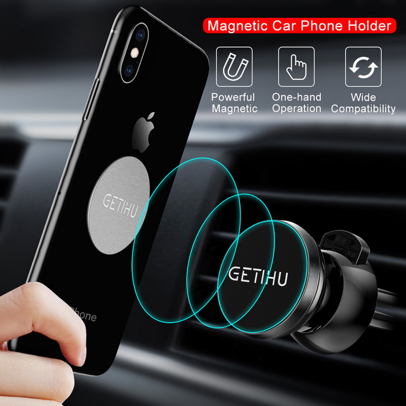 HTB1Uc6cXvLsK1Rjy0Fbq6xSEXXa3 - GETIHU Car Phone Holder For iPhone X XS Max 8 7 6 Samsung 360 Degree Support Mobile Air Vent Mount Car Holder Phone Stand in Car