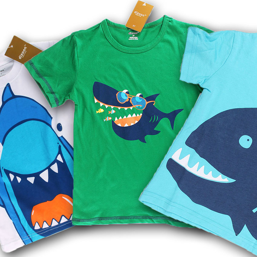 Dizoon Short Sleeve Boys T Shirt Stylish Shark fortable