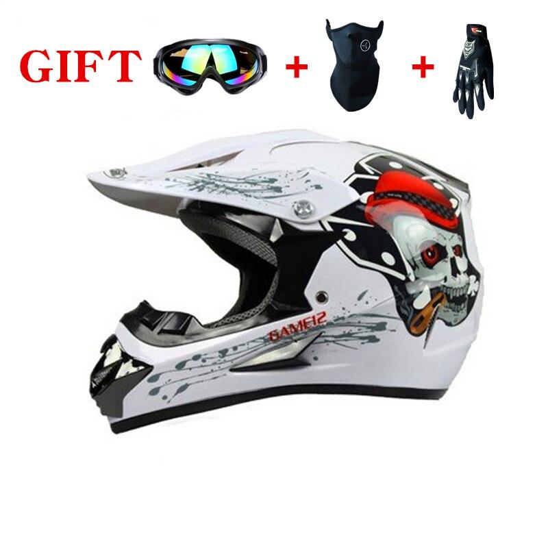 Nouveaux casques de moto enfants de bande dessinée de haute qualité avec lunettes et écharpe 19 couleurs Casque de cyclisme de protection garçon fille
