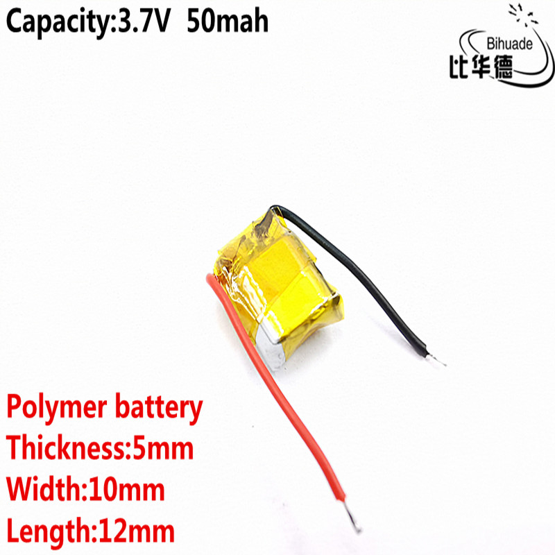 Good Qulity 3.7v Polymer Lithium Battery 50mah 501012 Is Suitable For I7 Bluetooth Headset MP3 MP4
