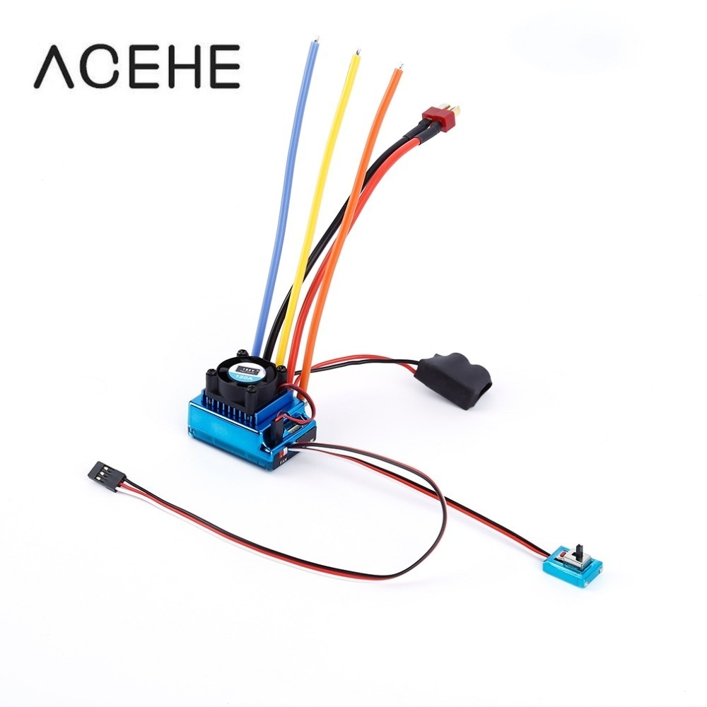 120A ESC Sensored Brushless Speed Controller For 1/8 1/10 Car/Truck Crawler Car Vehicle Used 2018 Top Sale Dropshipping 1 10 80a adjustable sensored sensorless brushless esc for car truck