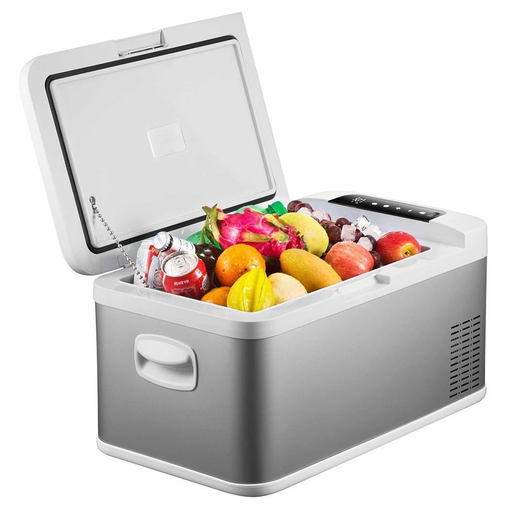 18L voiture réfrigérateur congélateur refroidisseur voiture réfrigérateur compresseur pour voiture maison pique-nique réfrigération congélateur faible bruit Port USB