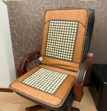 New jade cushion germanium stone boss chair cushion electric heating heating cushion cushion for leaning on of the office 240337 ergonomic chair quality pu wheel household office chair computer chair 3d thick cushion high breathable mesh