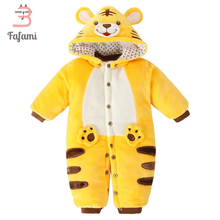 Baby Snowsuit Winter Rompers Tiger Snow Wear Outerwear & Coats Velvet Baby Clothing jacket for women boy romper go well with overalls