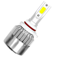 1X C6 Car Led Headlight H4 H7 H11 H13 H1 H3 9004 880 9005 9006 COB 6000K 72W 8000LM Hi/Lo Beam Turbo Light Car Accessories(China)