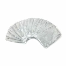 50pcs/lot 5 Layers PM2.5 Activated Carbon Filter replaceable Anti Haze Masks paper Insert Protective Health Mask