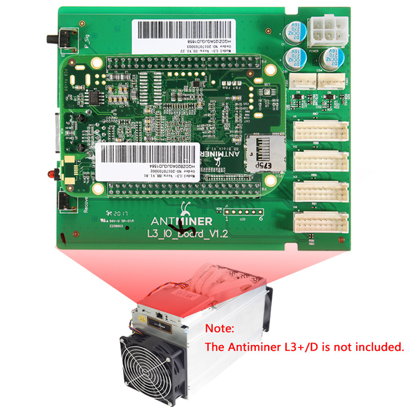 Control Board Include IO board and the BB Board Bitcoin Mining Machine Parts for ANTMINER L3+/D Dashboard Antminer Repair Parts brand wallet fashion women wallet double zipper female clutch purse froasted pu leather money case coin pocket card holder