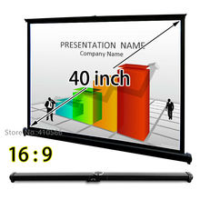 HD Projection Screen 40inch 16×9 Tabletop Screens Handy Easy Using For Mini PICO Projector