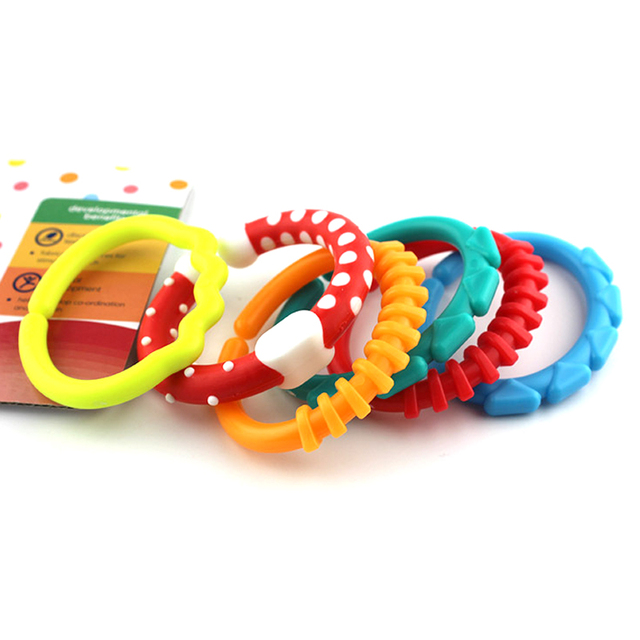 6pcs Lot Baby Kids Chew Bracelet Safe Chewelry Circle Rings Sensory Fidget Toy