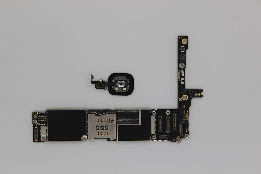 Oudini desbloqueado 64 GB para iPhone 6 más placa madre con la identificación del tacto, original desbloqueado para iPhone 6 más placa base tiene huella digital