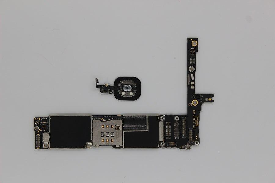 Oudini desbloqueado 64 GB para iphone 6 PLUS Motherboard con Touch ID, Original desbloqueado para iphone 6 PLUS Mainboard tiene huella dactilar