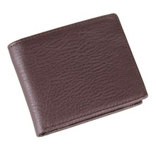 8063C  excellent genuine cow leather coffee wallet for office man