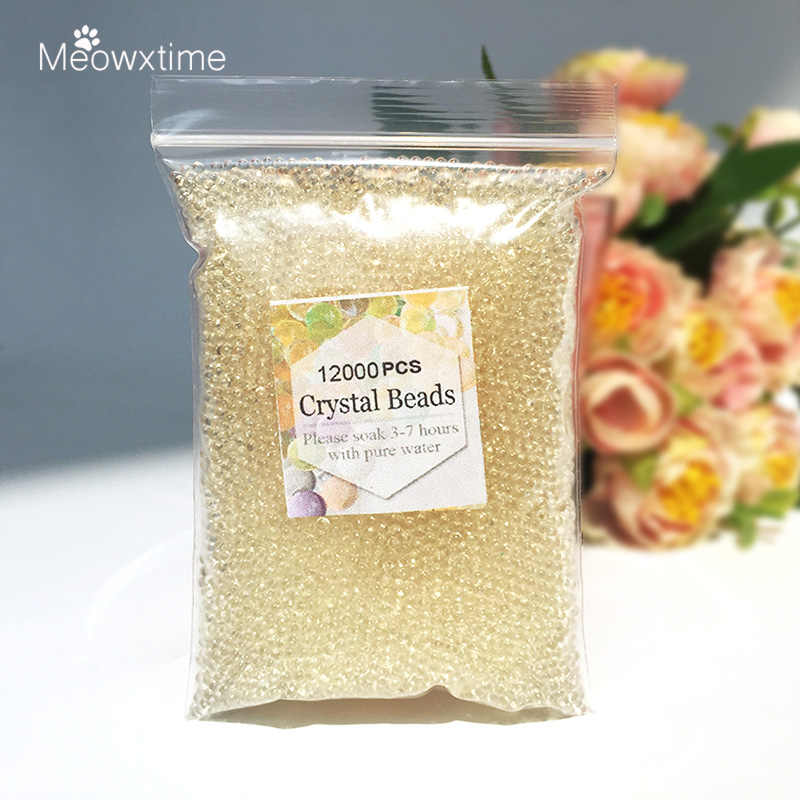 12000pcs/bag Crystal Soil Hydrogel Gel Polymer Orbiz Water Beads Flower/Wedding/Decoration Maison Growing Water Balls gift