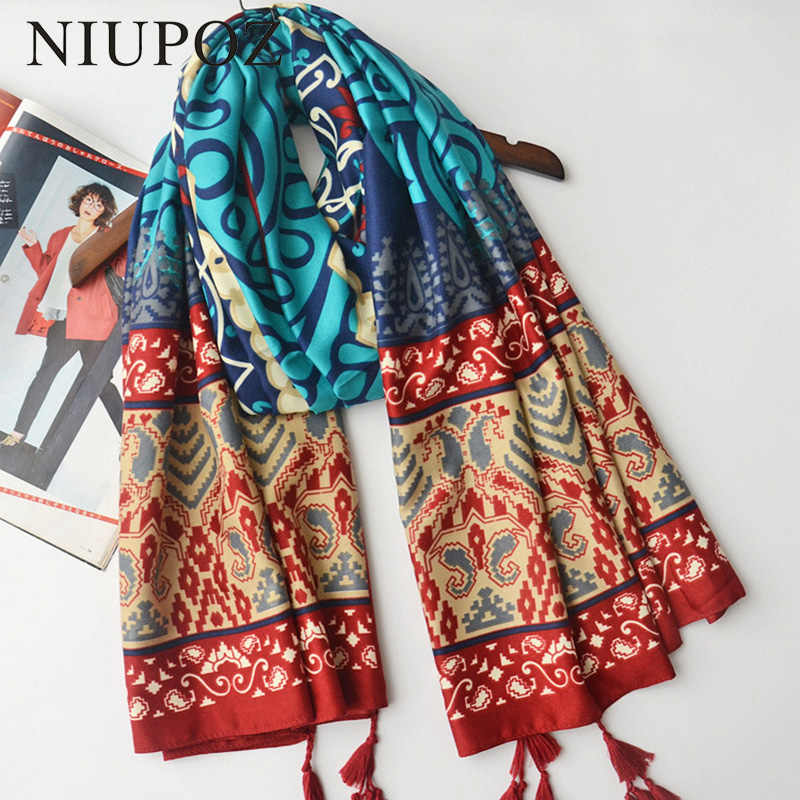 8194844b8cb 2017 New Design From India Muslim Hijab Headband Bohemia Cotton Scarf Women  Foulard Long Shawl Headwear