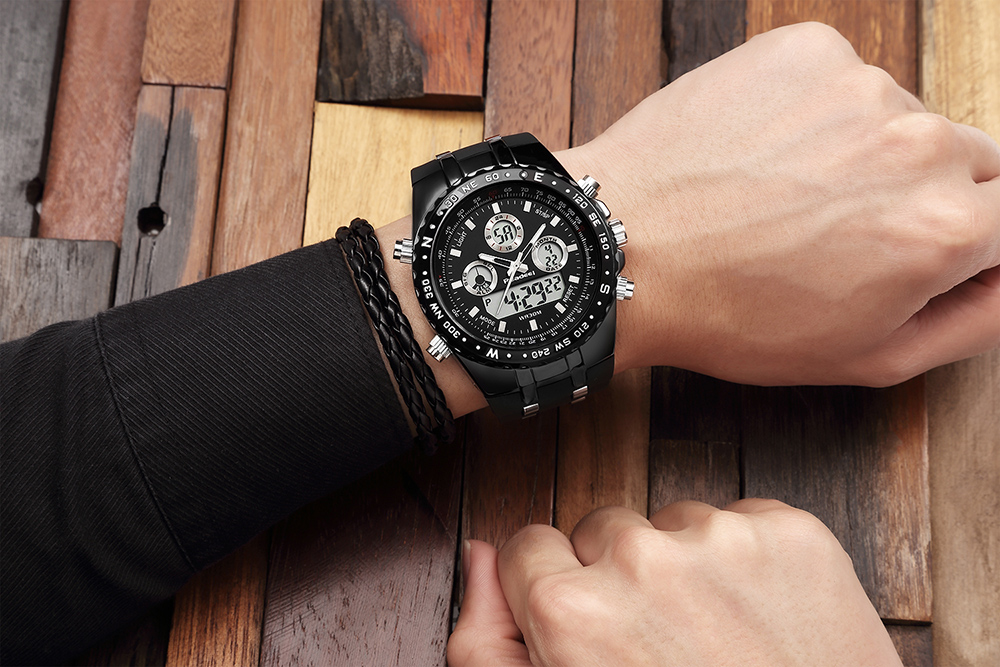Readeel Top Brand Sport Quartz Wrist Watch Men Military Waterproof Watches LED Digital Watches Men Quartz Wristwatch Clock Male 14
