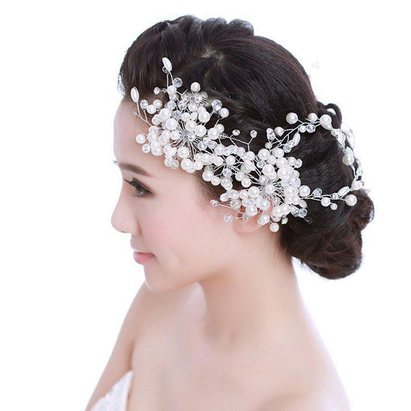 Wedding Hairstyles With Jewels: Jewelry Hair Decoration Handmade Beaded Wedding Headdress