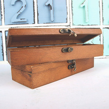 Wooden Stationery Storage Box