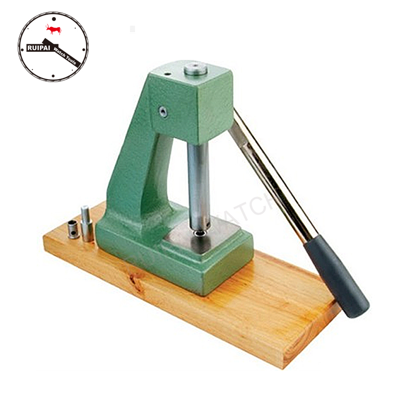 6137 Professional Watch Back Press Tool, Watch Crystal Watch Back Case Press Machine For watchmakers цена