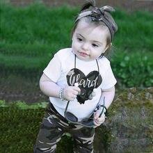 efc61fed5 MUQGEW ropa de bebé recién nacido niñas niño camuflaje corazón Tops +  Pantalones + diadema trajes bebé ropa traje niños
