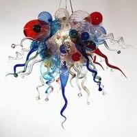 Villa Decor Fancy Hanging LED 100% Hand Blown Murano Glass Chandelier