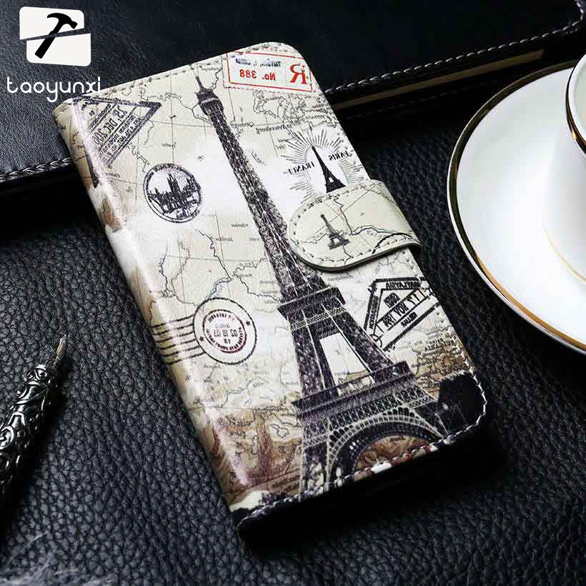 TAOYUNXI PU Leather Case For Wiko Tommy 2 Cases Phone Cover Tommy 2 Flip Wallet With Card Holster Shell