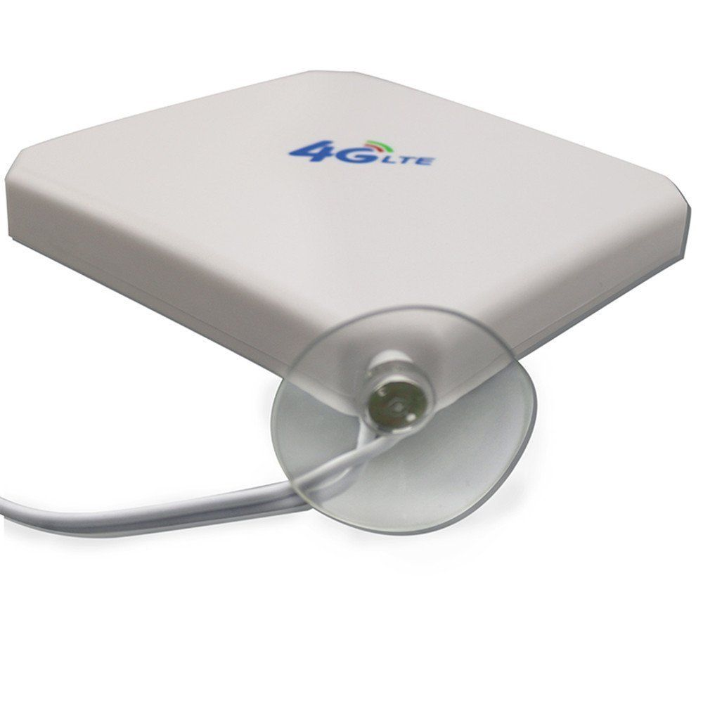 4G LTE MIMO External Antenna for Huawei E8372 E8377 E8278 E 392 Modem Routers - Dual TS9 Connector - White