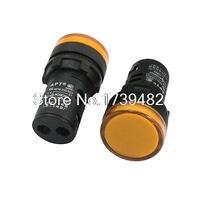 2Pcs AC DC 24V Yellow LED Cylindrical Buzzer Alarm Signal Pilot Lamp Light
