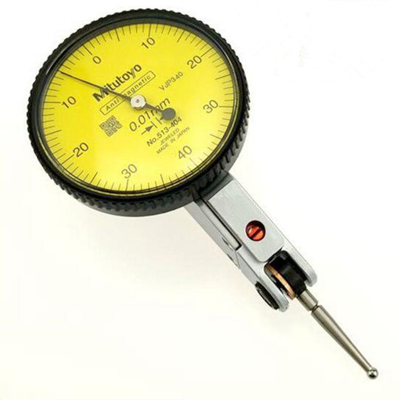 цены 1PCS Mitutoyo Micrometer Metalworking Analog Lever Dial indicator Dial gauge Accuracy 0.01 Range 0-0.8mm Measuring tools 513-404