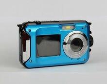 Waterproof Digital Camera 5M 16X Zoom Underwater Shockproof HD cam 2.7inch LCD CMOS waterproof Cameras DC double Screens camera