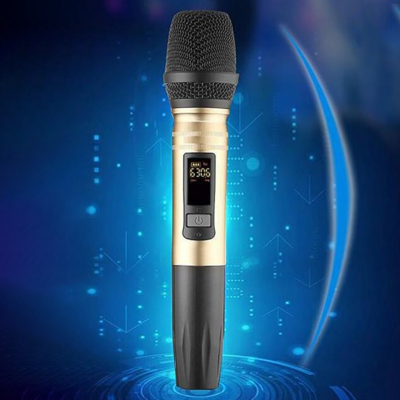 Ux2 Uhf Wireless Microphone System Handheld Led Mic Uhf Speaker With Portable Usb Receiver For Ktv Dj Speech Amplifier Recordi