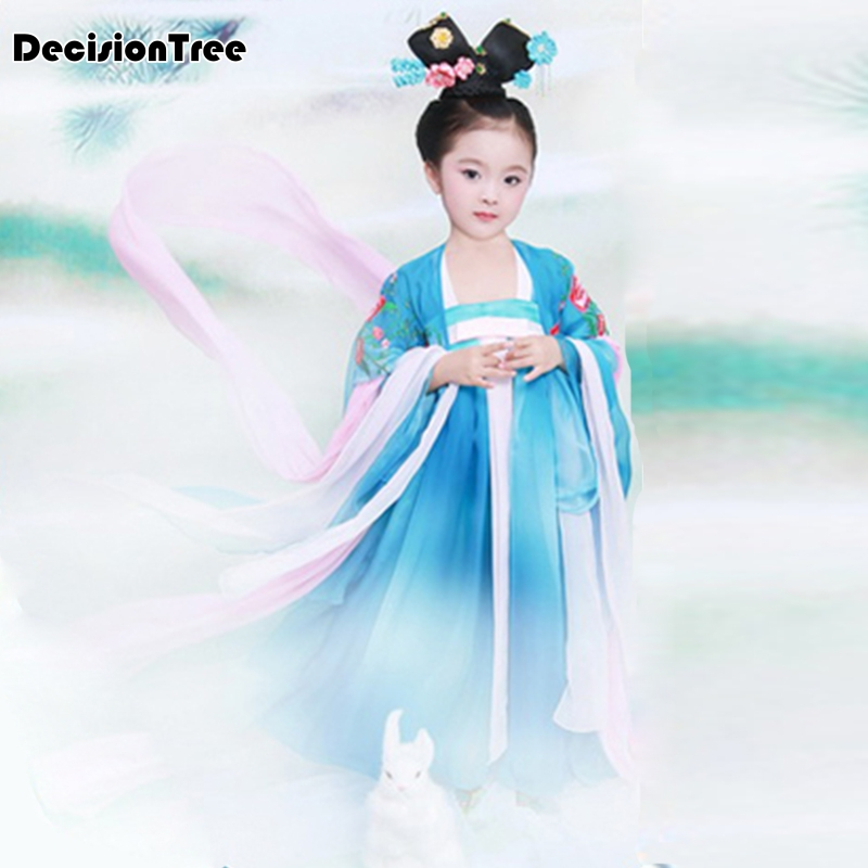 2019 new ancient chinese costume chinese traditional folk dance children opera kids dynasty ming tang han hanfu dress girls2019 new ancient chinese costume chinese traditional folk dance children opera kids dynasty ming tang han hanfu dress girls