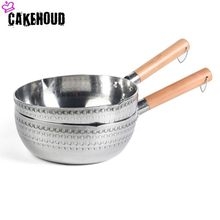 CAKEHOUD Kitchenware Aluminum Alloy Non-stick Soup Pot Mini Home Cooking Milk Pot Small Fryer Double Bottom Universal Cookware(China)