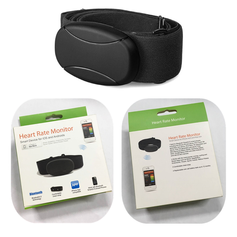 Bluetooth4.0 Wireless Sport Heart Rate Monitor Bluetooth Heart Rate Chest Belt Compatible with App Runtastic/Strava/Wahoo/Cardio
