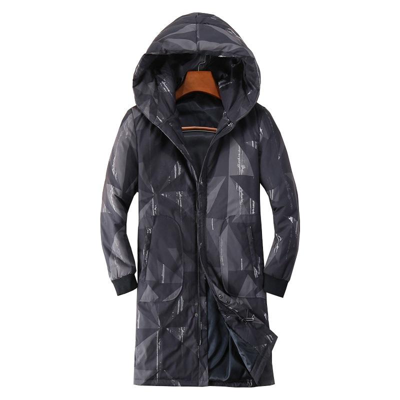 2017 Winter Camouflage Black Jacket Men Coats Thick Warm Casual Long Coat   Parkas   Men Windproof Hooded Outerwear Men's   Parkas