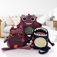 Lovely Baby Flannel Blanket Cartoon Air Conditioning Blanket Funny Soft Travel Pillow Dual-use Cartoon Gift Blankets 155cmX110cm