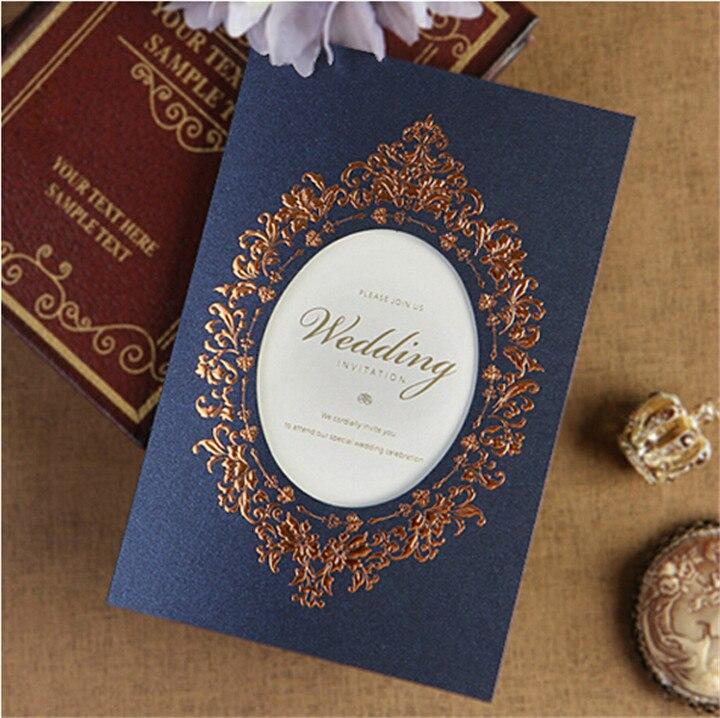 Newly Design Wholesale Royal Blue Invitation Card Creative Design